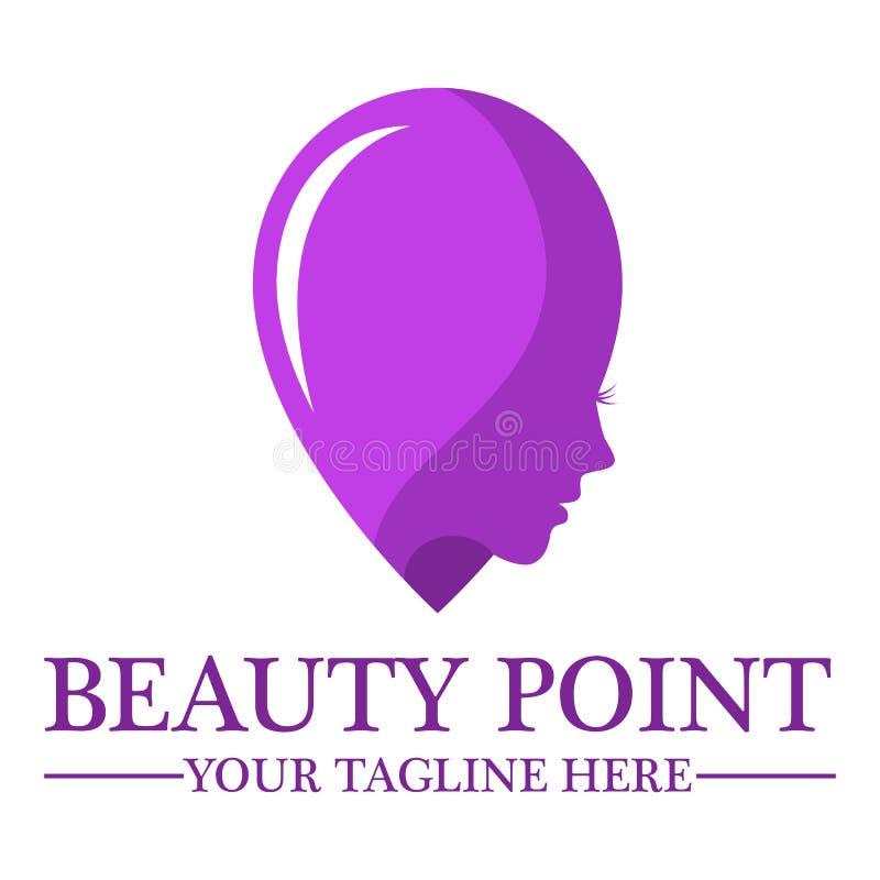 Modello di progettazione di logo del negozio di bellezza royalty illustrazione gratis