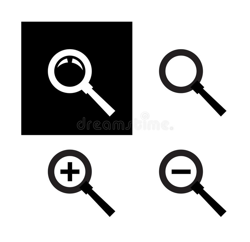 Modello di progettazione di logo di vettore di ricerca ingrandimento illustrazione vettoriale