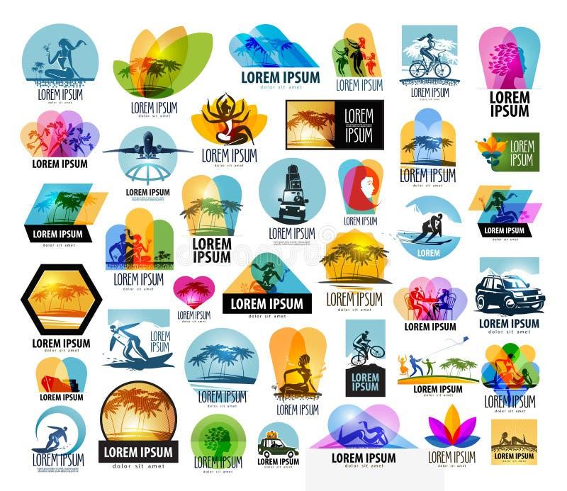 Modello di progettazione di logo di vettore di viaggio vacanza o illustrazione vettoriale