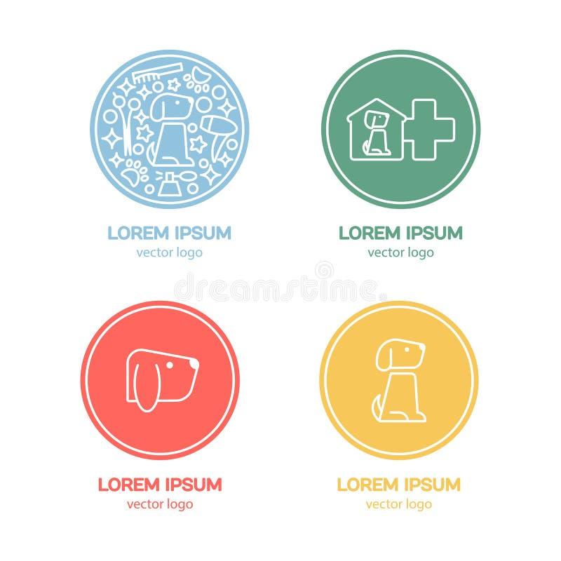 Modello di progettazione di logo di vettore per i negozi di animali royalty illustrazione gratis