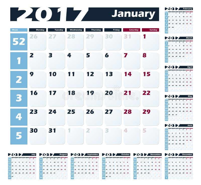 Calendario Con Numero Settimane.Modello Di Progettazione Di Vettore Di Dicembre Del