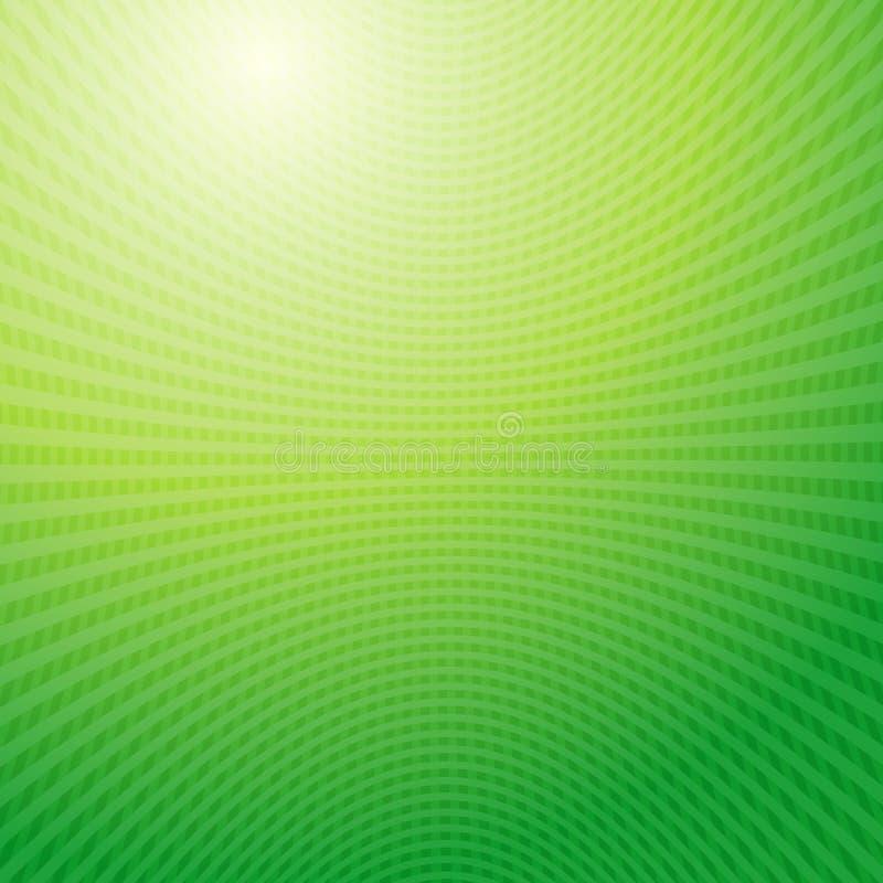 Modello di progettazione di vettore Estratto di griglia delle onde verdi illustrazione vettoriale