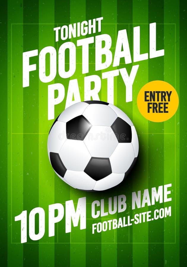 Modello di progettazione di evento del manifesto dell'aletta di filatoio di torneo della lega di sport di calcio di calcio dell'i illustrazione di stock