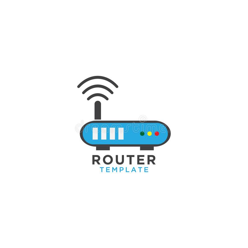 Modello di progettazione grafica del router illustrazione vettoriale