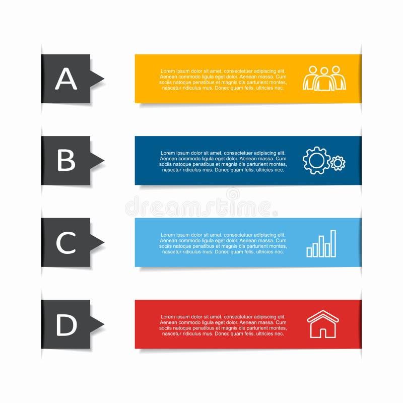 Modello di progettazione di Infographic con il posto per i vostri dati Illustrazione di vettore illustrazione di stock