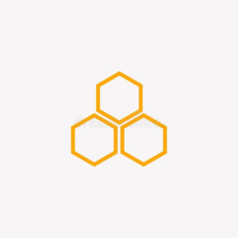 MODELLO DI PROGETTAZIONE DI LOGO DELL'APE, VETTORE, ICONA, AFFARE illustrazione di stock