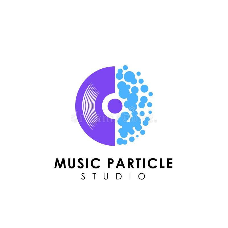 modello di progettazione di logo di musica del vinile simboli dell'icona di vettore del disco del vinile illustrazione vettoriale