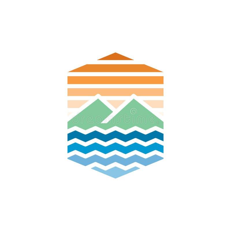 Modello di progettazione di logo di viaggio royalty illustrazione gratis