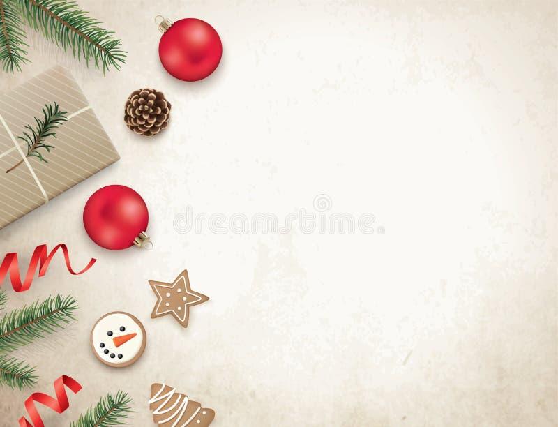 Modello di progettazione di Natale illustrazione di stock