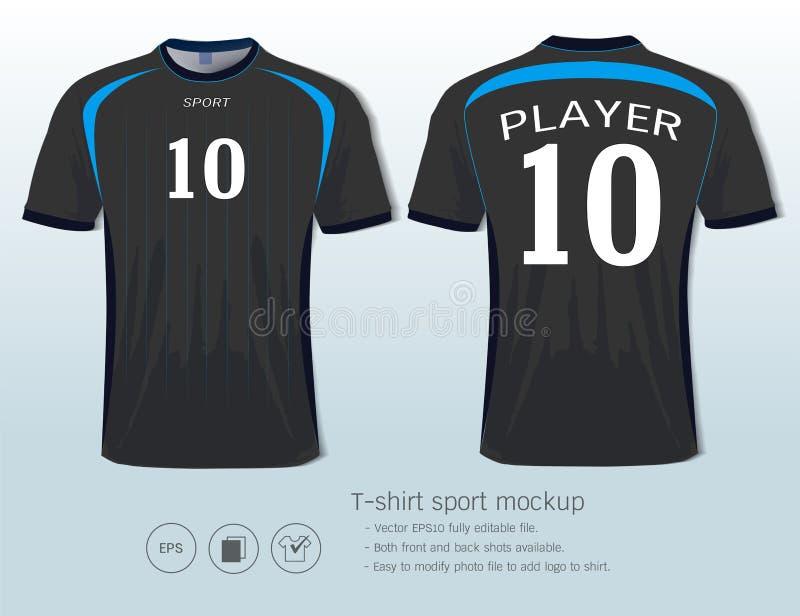 Modello di progettazione di sport della maglietta per il club di calcio o tutti gli abiti sportivi illustrazione vettoriale