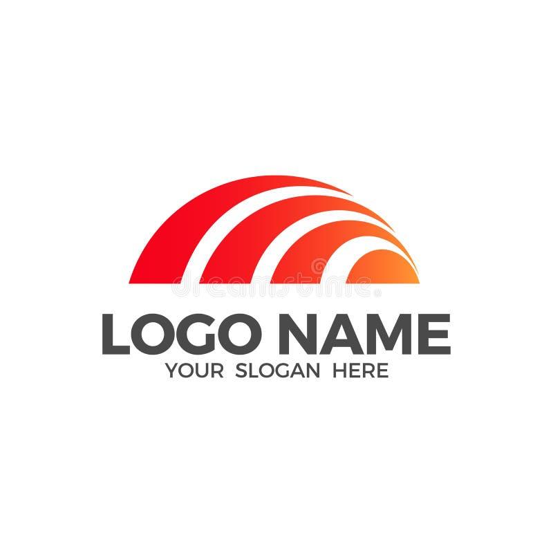 Modello di progettazione di vettore di logo di alba illustrazione di stock