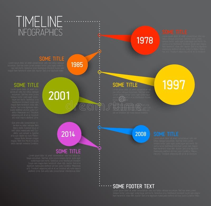 Modello di rapporto di cronologia di Infographic illustrazione vettoriale