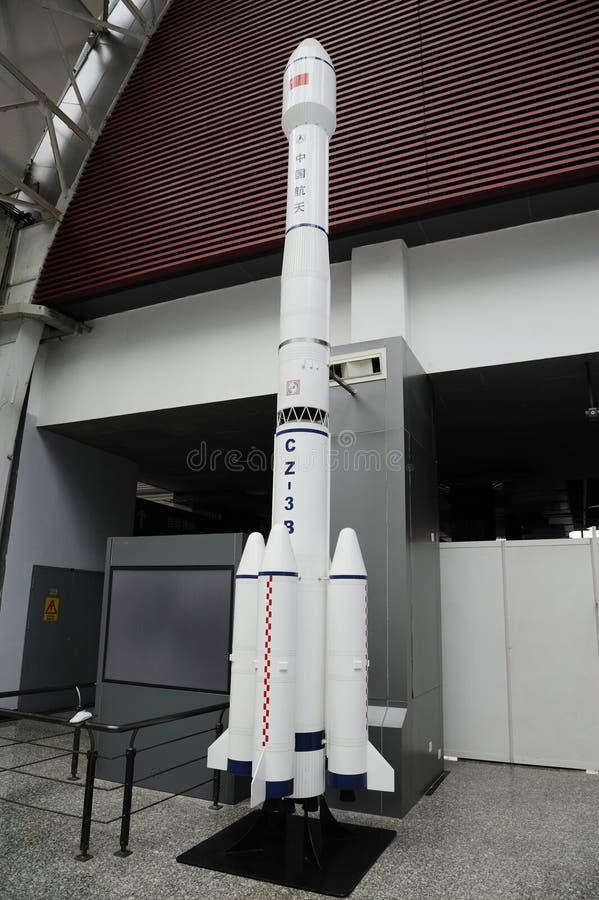 Modello di razzo cinese dello spazio di cz-3b immagini stock