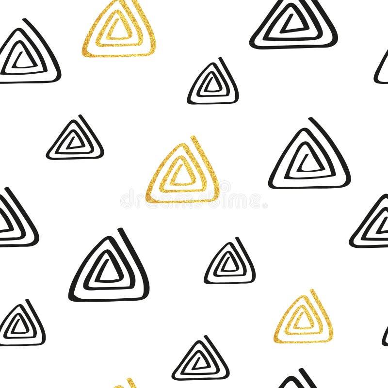 Modello di ripetizione senza cuciture astratto con i triangoli illustrazione di stock
