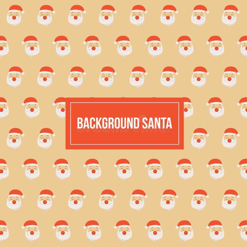 Modello di Santa Claus Christmas Pattern Vector Background fotografie stock