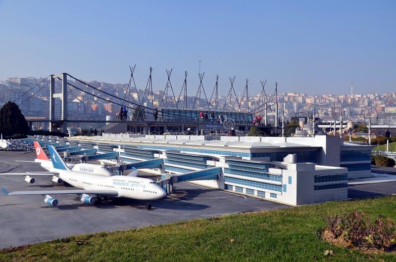 Modello di scala dell'aeroporto di Ataturk immagini stock libere da diritti