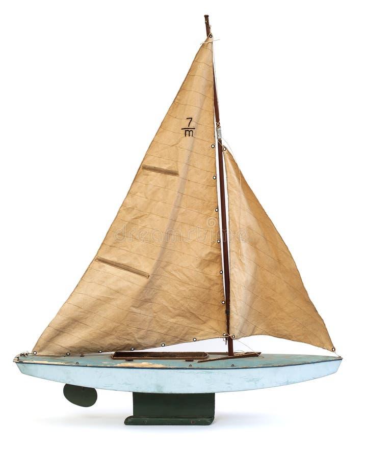 Modello di scala della barca a vela immagine stock