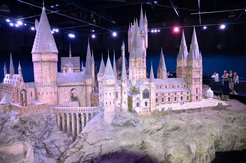 Modello di scala di Hogwarts, Warner Bros Studio fotografia stock