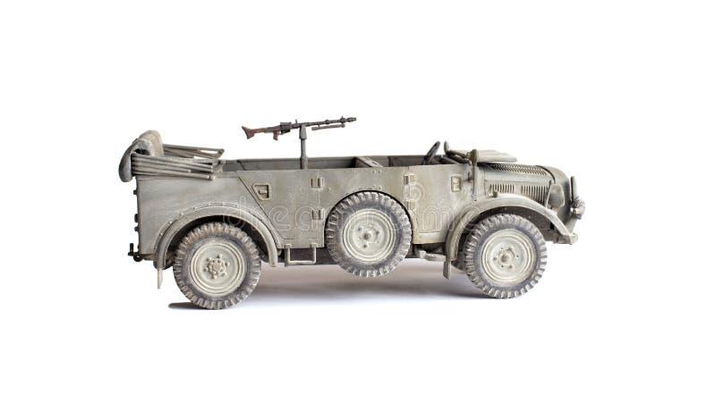 Modello di scala di vecchio veicolo fotografia stock