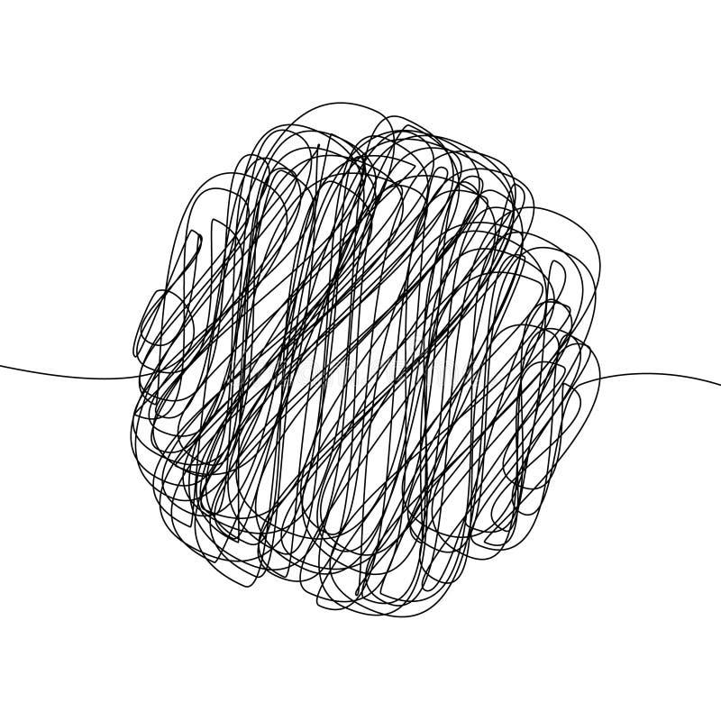 modello di scarabocchio di caos illustrazione vettoriale