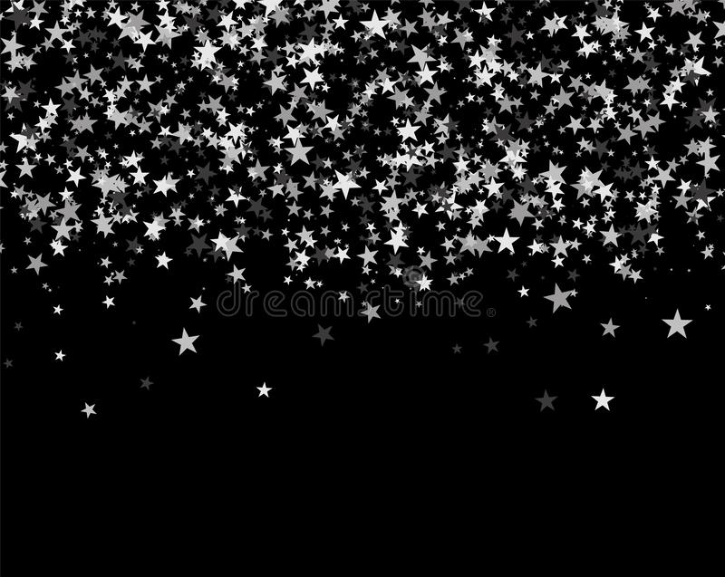 Modello di scintillio fatto delle stelle illustrazione vettoriale