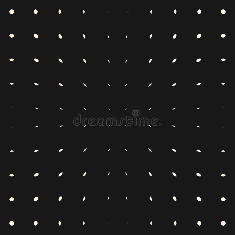 Modello di scoppio di vettore Punti e linee bianchi su fondo nero Semitono radiale illustrazione di stock