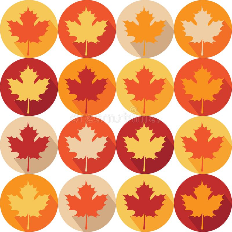 Modello di Seemless con le foglie di acero di autunno illustrazione di stock
