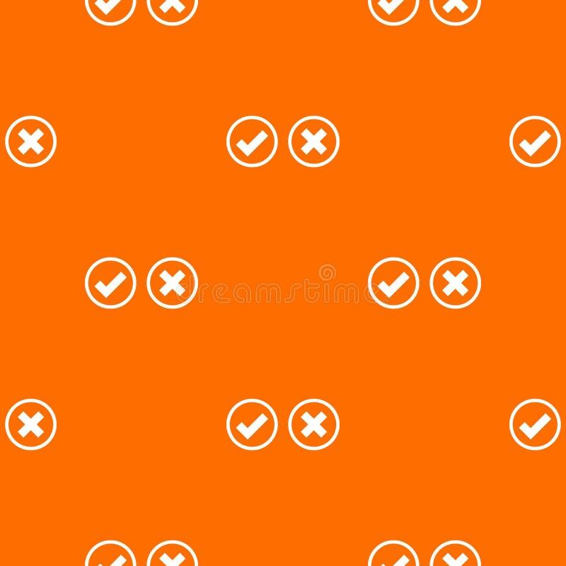 Modello di selezione dell'incrocio e del segno di spunta senza cuciture royalty illustrazione gratis