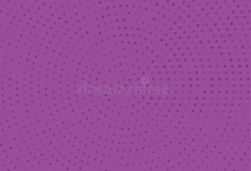 Modello di semitono monocromatico astratto Pannello futuristico Il lerciume ha punteggiato il contesto con i cerchi, punti, punto illustrazione vettoriale