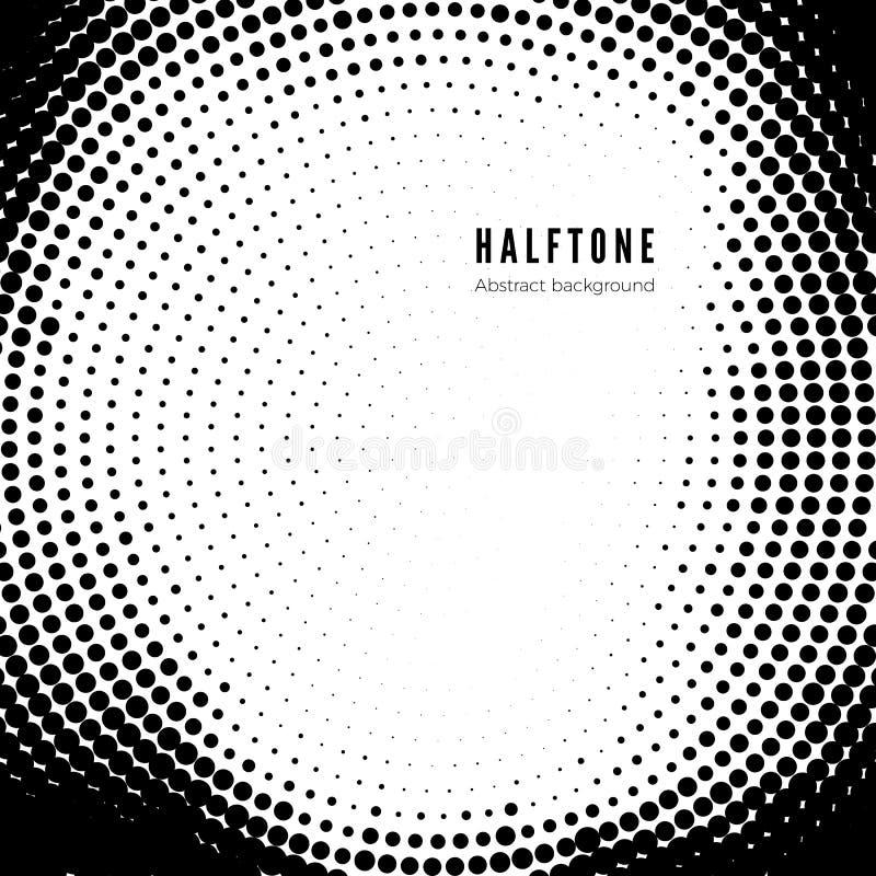 Modello di semitono nero su fondo bianco Struttura di semitono Illustrazione di vettore illustrazione di stock