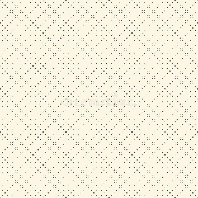 Modello di semitono senza cuciture Pixel in bianco e nero Minimali di vettore royalty illustrazione gratis