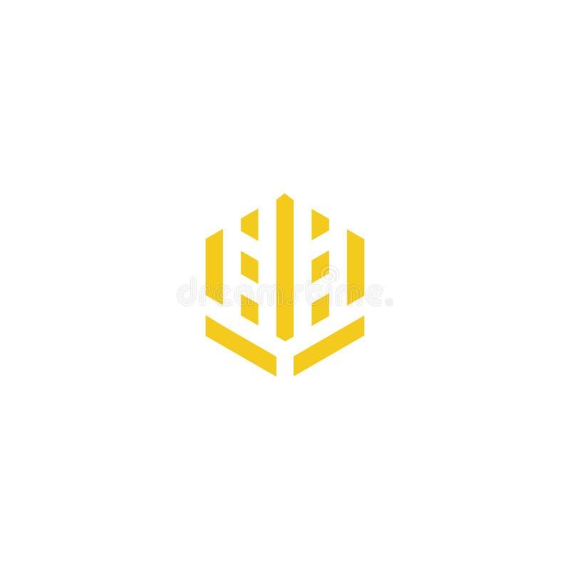 Modello di simbolo del segno dell'icona di logo della società del grano royalty illustrazione gratis