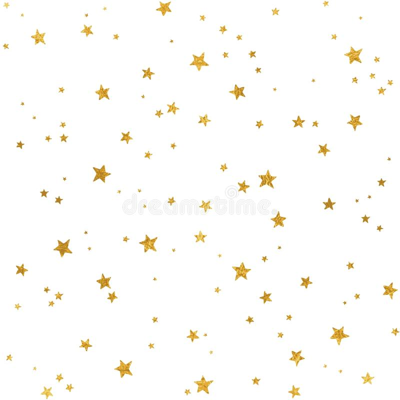 Modello di stelle d'oro illustrazione vettoriale