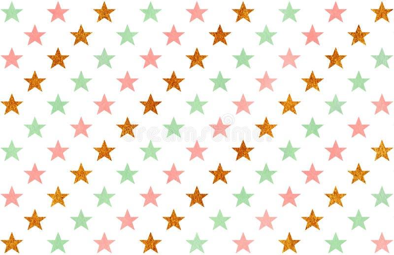 Modello di stelle dell'acquerello royalty illustrazione gratis