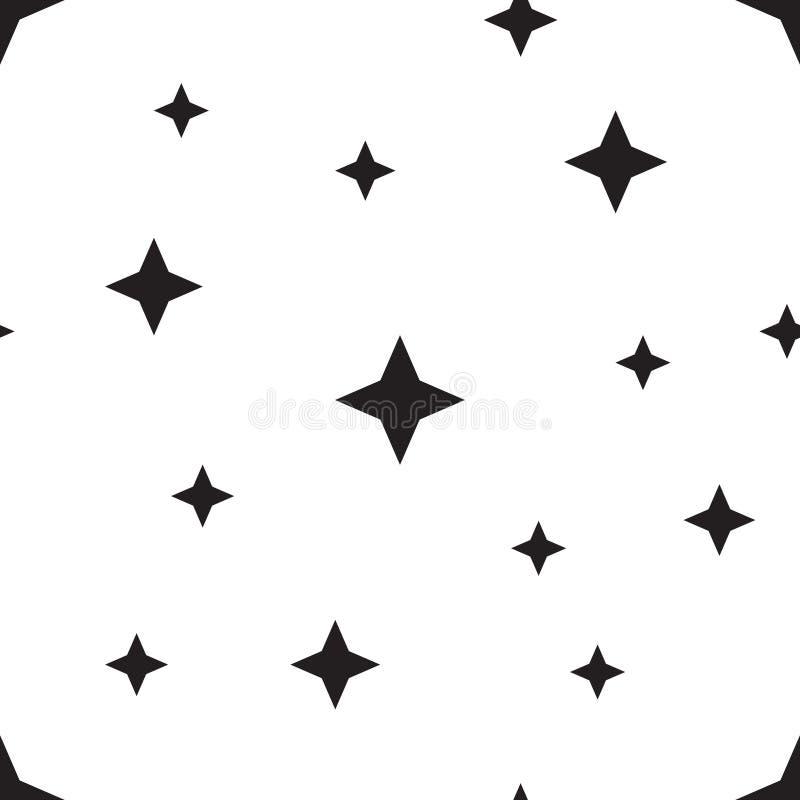 Modello di stelle senza cuciture di vettore Fondo della stella basato sugli elementi casuali per l'alto concetto di definizione royalty illustrazione gratis