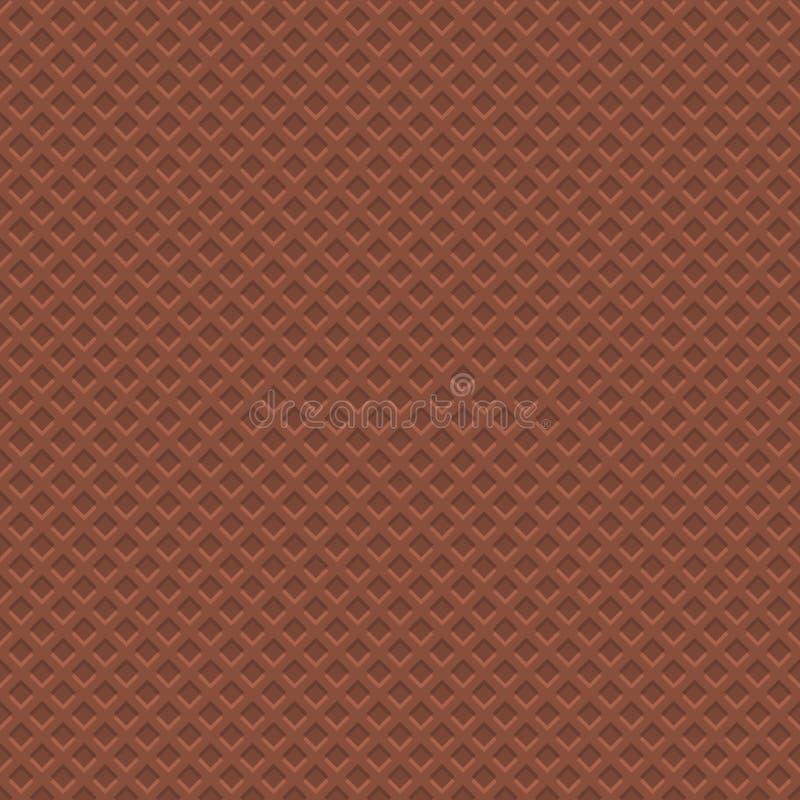 Modello di struttura della cialda del cioccolato Fondo senza cuciture Vettore illustrazione di stock
