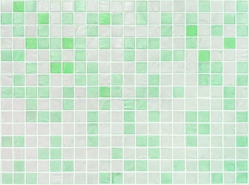 Modello di superficie delle mattonelle del primo piano alle mattonelle verdi nel fondo di struttura della parete del bagno fotografie stock libere da diritti
