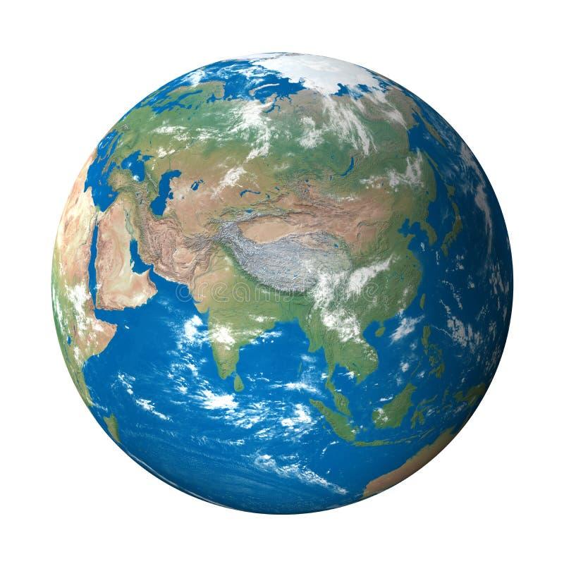 Modello di terra da spazio: Vista dell'Asia royalty illustrazione gratis