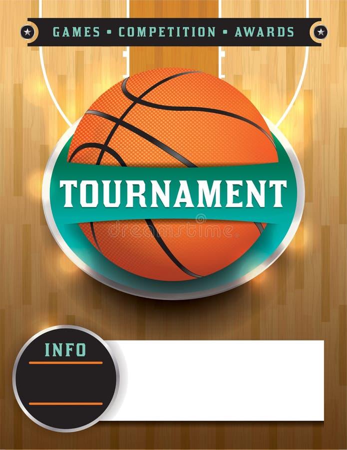 Modello di torneo di pallacanestro royalty illustrazione gratis