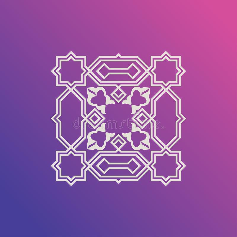 Modello di un'immagine di ripetizione Ornamento, motivo, su un fondo d'avanguardia royalty illustrazione gratis