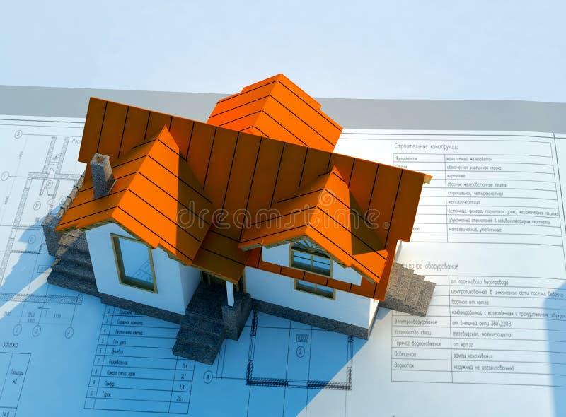 Modello di una casa illustrazione di stock illustrazione for Modelli di casa gratuiti