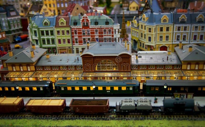 Modello di una città del giocattolo immagini stock