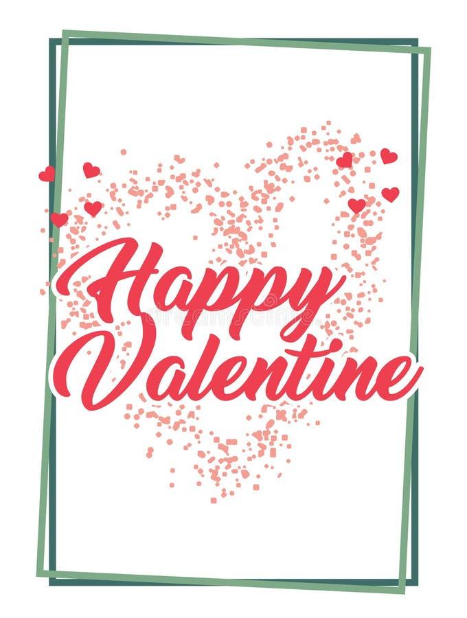 Modello di Valentine Days Greeting Card Banner illustrazione di stock