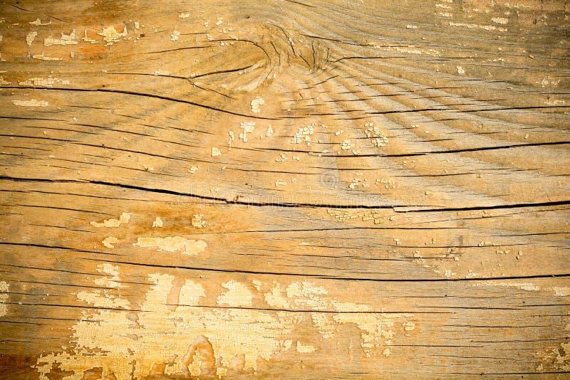 Modello di vecchio pezzo di legno con pittura scheggiata fotografia stock libera da diritti