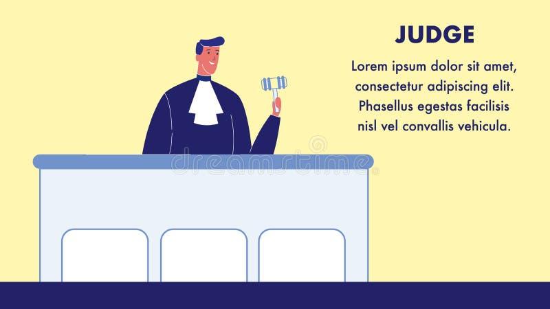 Modello di Vector Web Banner del giudice con lo spazio del testo illustrazione vettoriale