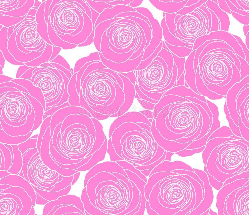 Modello di ventilatore a soffietto rosa Cite Floral Background Elegant Tiffany Roses Festività, Festa, Decorazione Matrimoniale illustrazione di stock