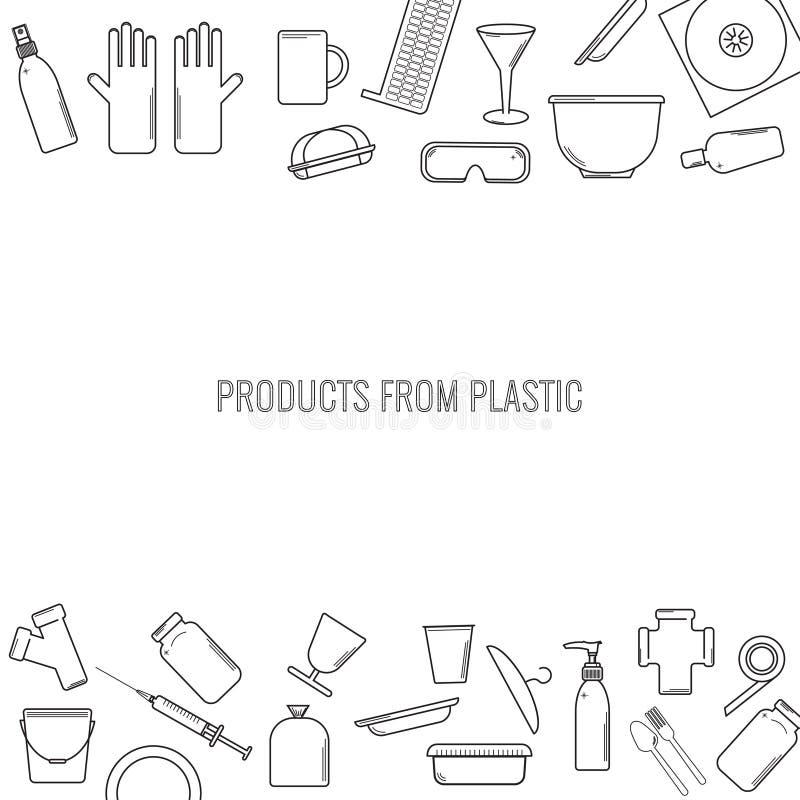Modello di vettore degli oggetti riciclabili di plastica royalty illustrazione gratis