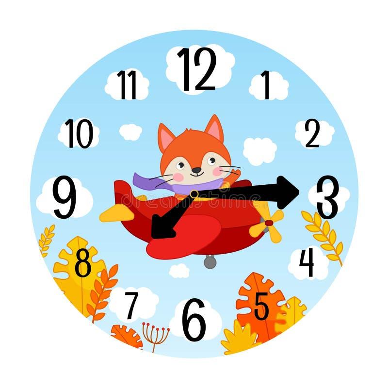 Modello di vettore degli orologi dei bambini illustrazione vettoriale