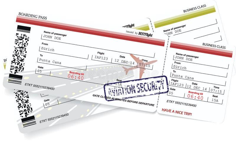 Modello di vettore dei biglietti del passaggio di imbarco royalty illustrazione gratis