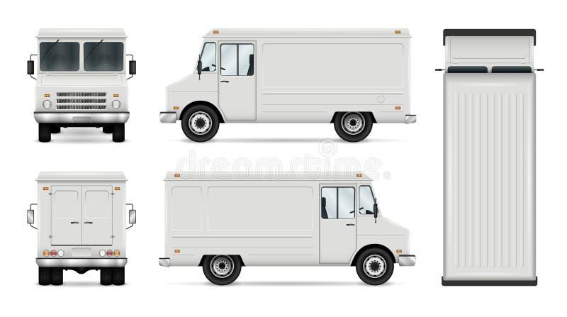 Modello di vettore del camion dell'alimento illustrazione vettoriale